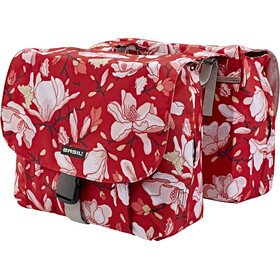 Basil Magnolia S Luggage Carrier Double Bag 25L, poppy red